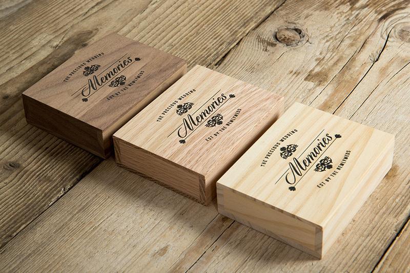 Wooden USB Box for Wedding Photographs